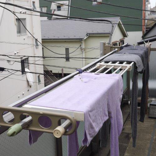 クローゼット改造_ワゴンハンガー処分_突っ張り棚ーで洗濯物干し